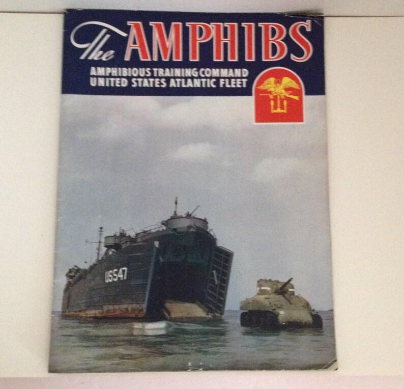 The Amphibs Vintage 1940s Military Mag WWII US Atlantic Fleet image 0