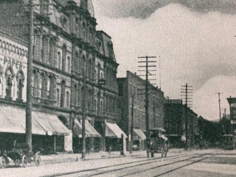 Hornellsville NY Postcard 1908 Vintage Broad Street Photo Card image 0