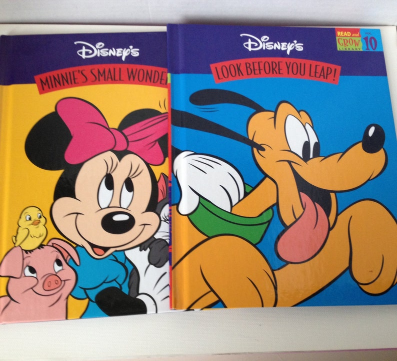 Disney Books Read and Grow 1997 Minnie Mouse Pluto Mickey image 0