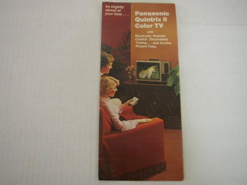 Vintage Panasonic Quintrix II TV Booklet Color Television image 0