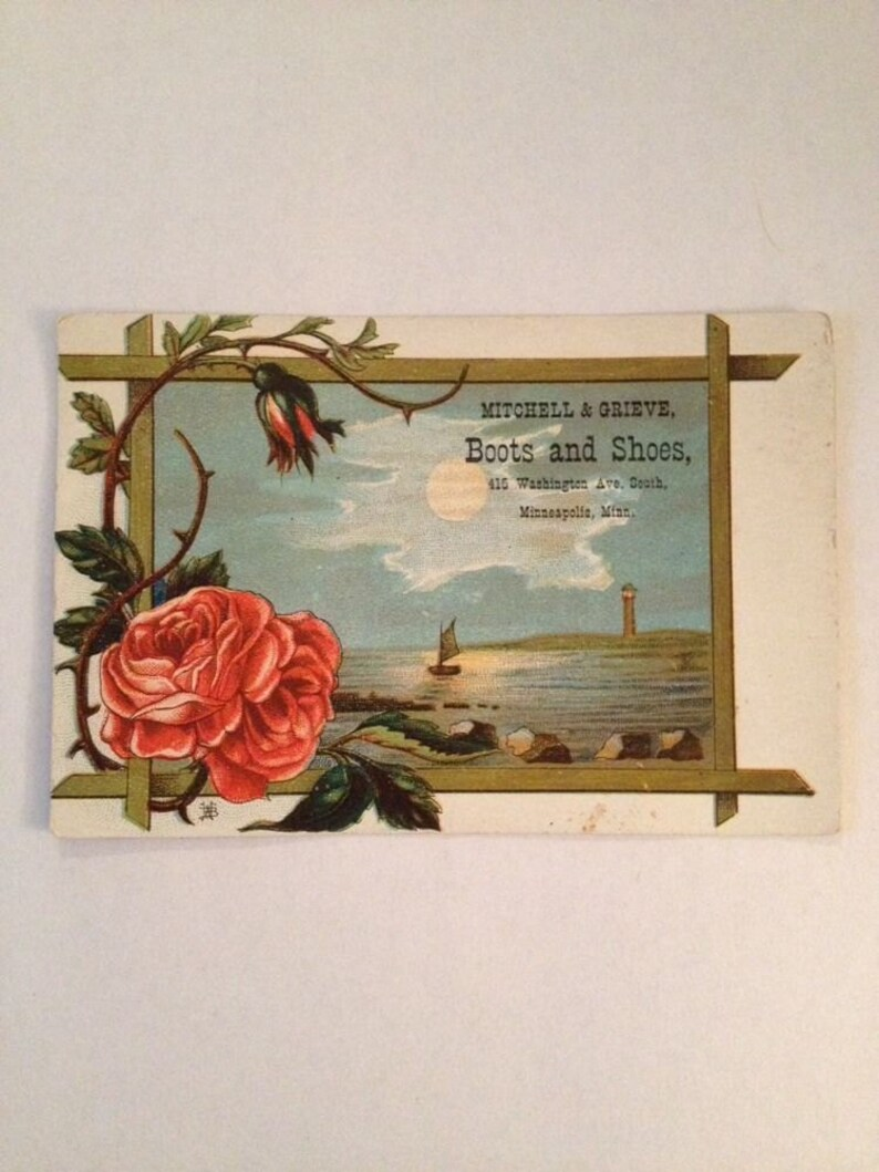 Victorian Trade Card Minneapolis MN Mitchell Grieve Shoes image 0