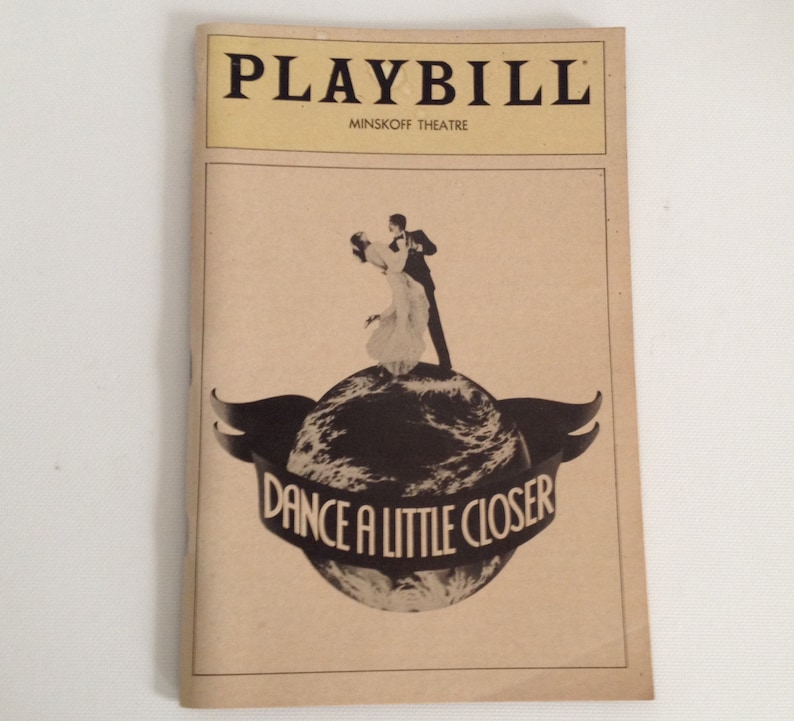 Playbill 1983 Dance a Little Closer Minskoff Theatre Vintage image 0