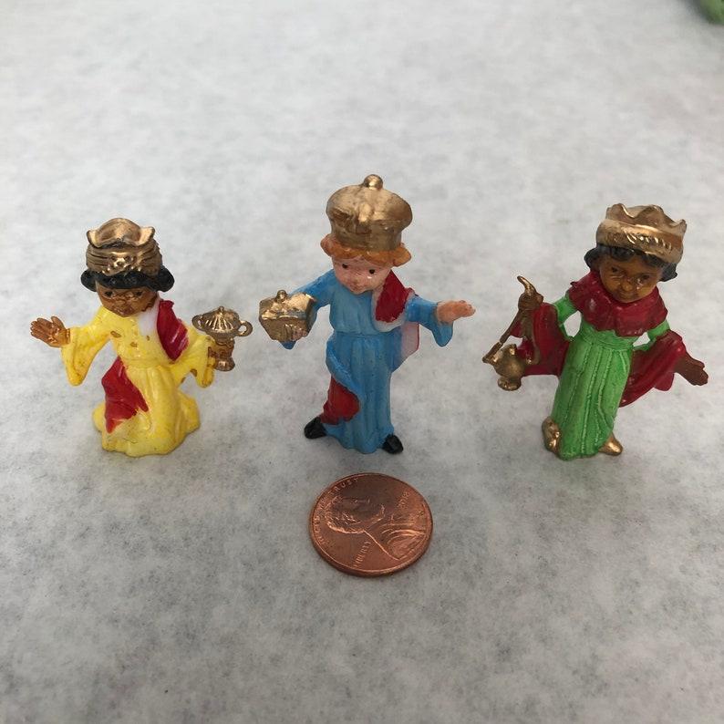 Miniature Three Wise Men 2 Crafts Fairy Garden Dollhouse NOS image 0