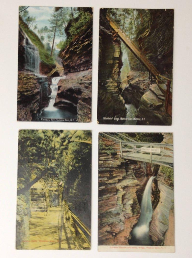 Antique Postcards Watkins Glen NY 1910s Lot of 4 Vintage New image 0