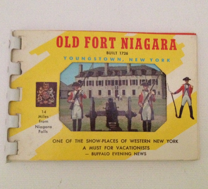 Old Fort Niagara Youngstown NY Souvenir Book 1960s Vintage image 0