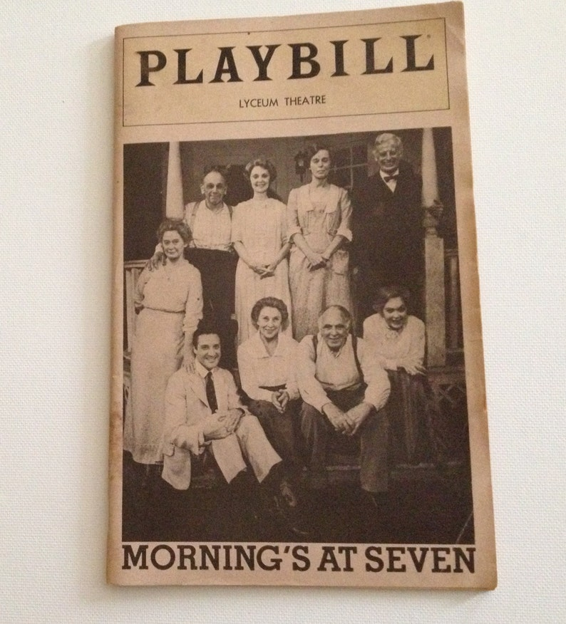 Playbill 1981 Lyceum Theatre Mornings at Seven Vintage Theater image 0