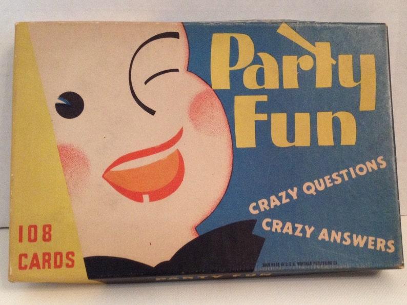 Whitman Party Fun Game Vintage 1935 Card Game Secrets Ask image 0