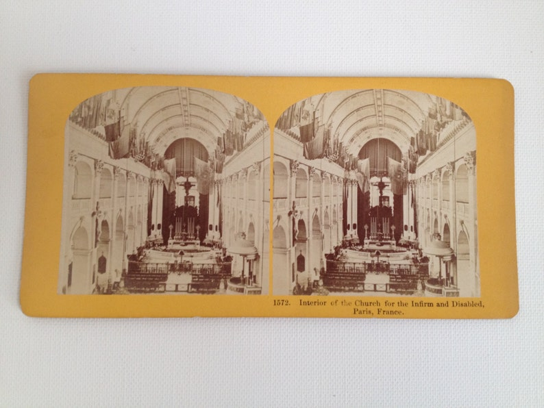 Stereoview Card Antique Photo Paris France Church for the image 0