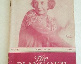 The Playgoer Program 1929 Theater Booklet Queenie Smith Souvenir Play NYC Detroit MI Theatre