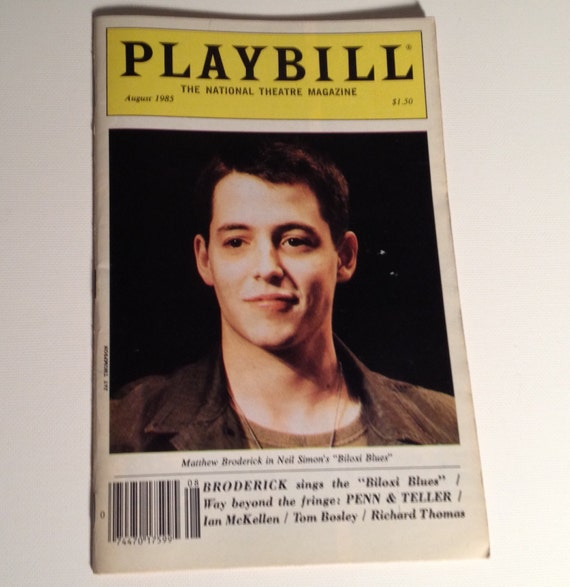 Playbill 1985 Biloxi Blues Matthew Broderick Neil Simon Etsy