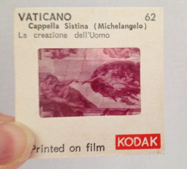 Vintage Color Slides Vatican Sistine Chapel Italy Lot of 12 image 0