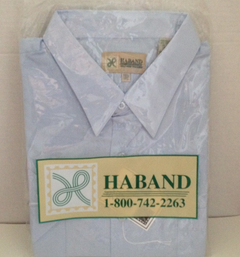 Haband Shirt Mens Size 18.5 Tall Short Sleeve Vintage in image 0