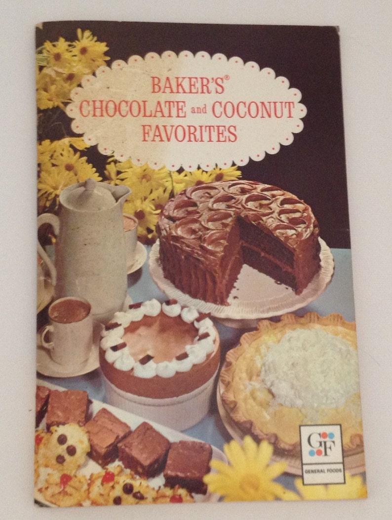 Vintage Cookbook Bakers Chocolate & Coconut Favorites 1981 image 0