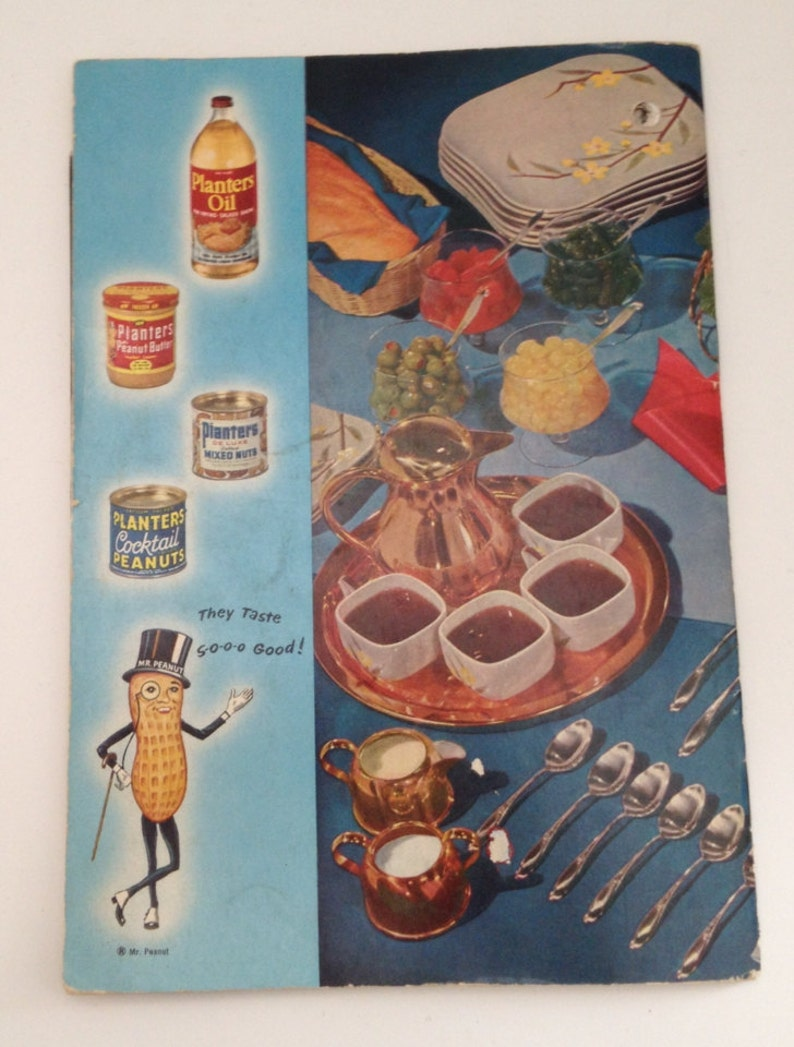 Vintage Planters Peanuts Cookbook 1955 Recipe Book Hints Ideas Frying on