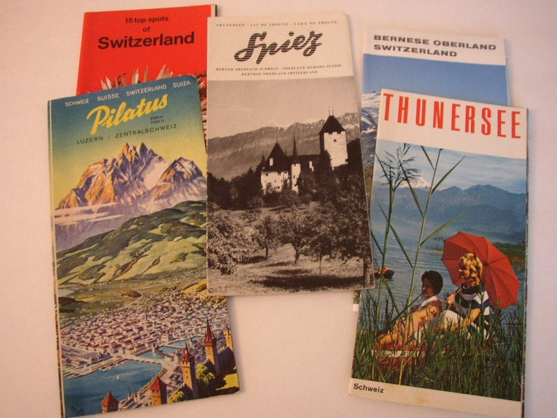 Switzerland Travel Brochures Vintage Lot of 5 Swiss Bernese image 0