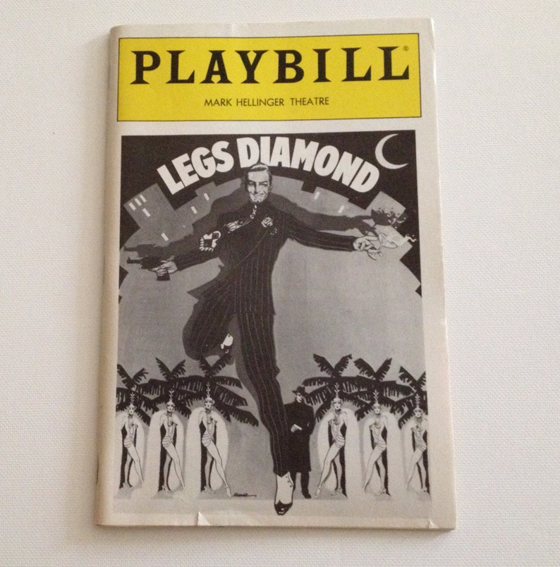 Playbill 1989 Mark Hellinger Theatre Legs Diamond Peter Allen image 0