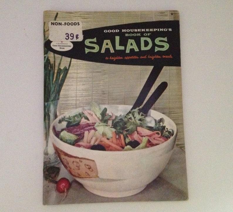 Vintage Salad Cookbook 1958 Good Housekeeping Book of Salads image 0