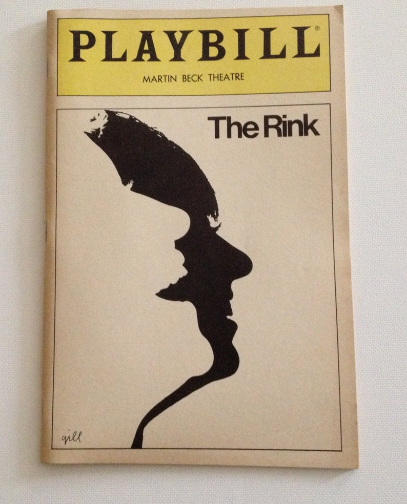 Playbill 1984 Martin Beck Theatre The Rink Vintage Theater image 0