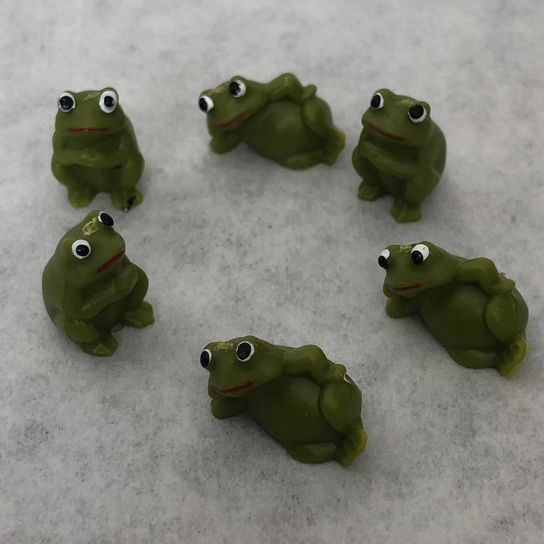 Miniature Frogs Pack of 6 Designland 1/2 Frog Crafts Fairy image 0