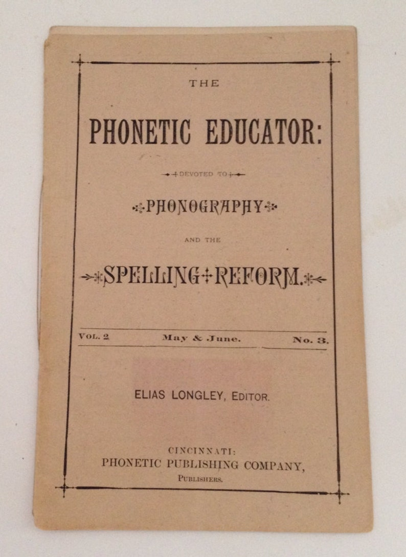 Antique Book 1880 The Phonetic Educator by Elias Longley image 0