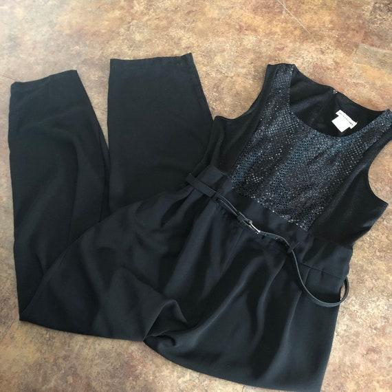 Vintage Jumpsuit Black Size 16 Perceptions by Iren