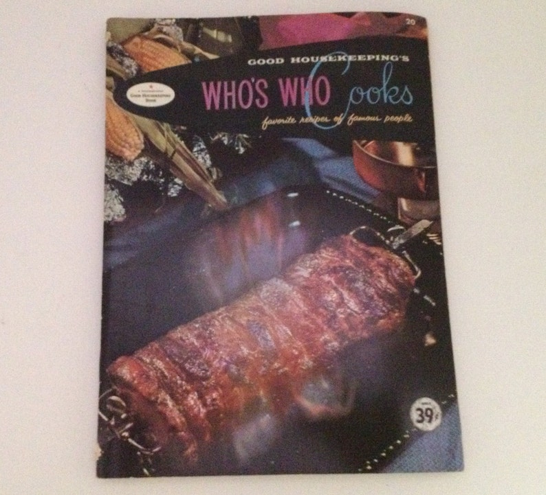 Who's Who Cookbook Vintage 1958 Good Housekeeping Cook image 0