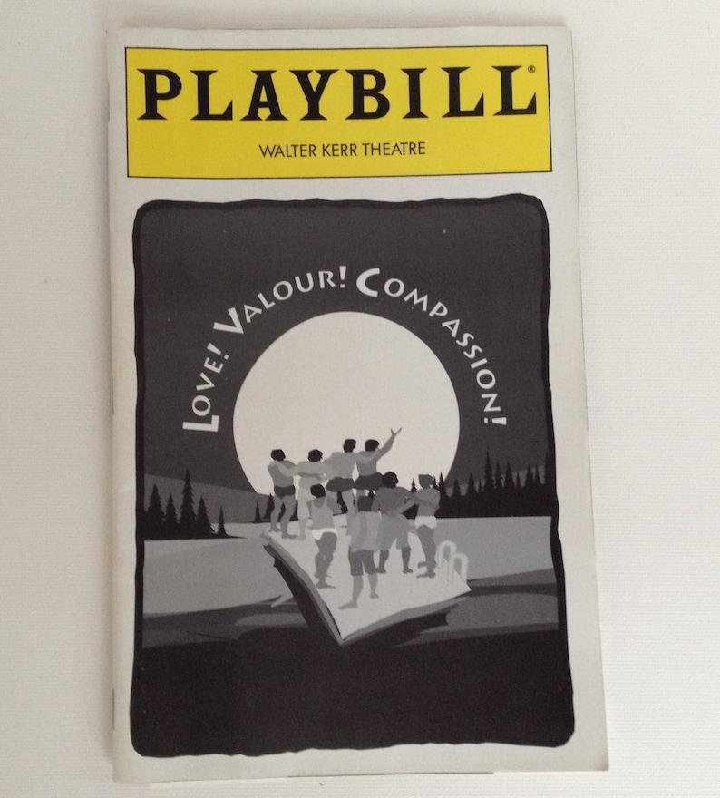 Playbill 1995 Walter Kerr Theatre Love Valour Compassion image 0