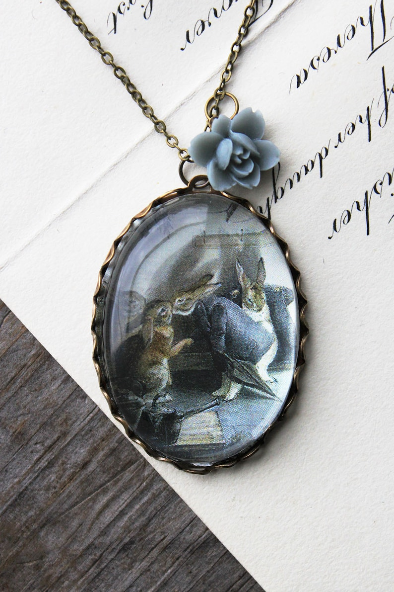 00e607d0cdc7 The Rabbits Christmas Party Necklace beatrix potter.