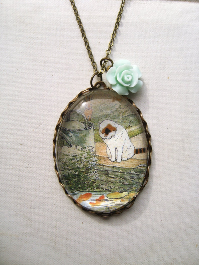 87eb89df3d7c Mr. McGregor s Cat Necklace beatrix potter. magnifying