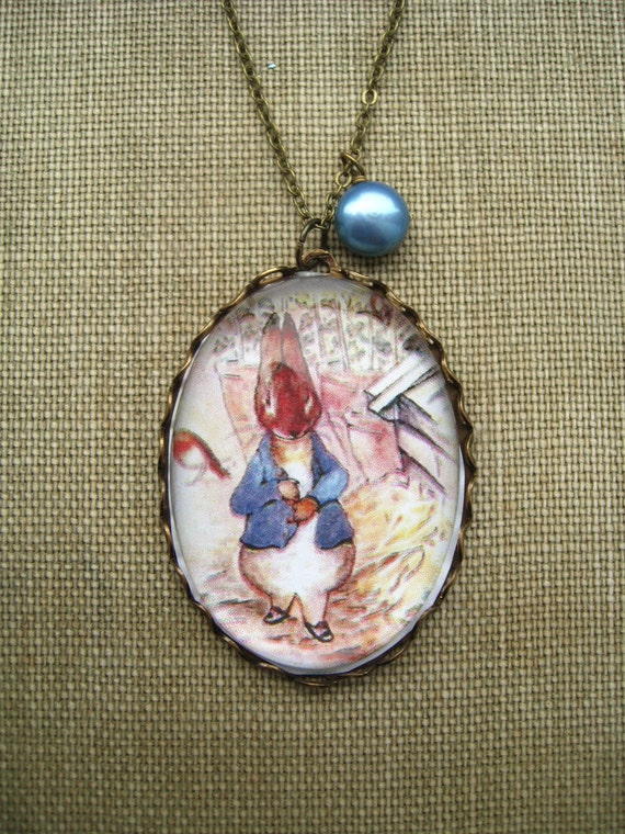 f19f7822086f Tale of Peter Rabbit Necklace beatrix potter. magnifying