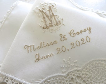 Wedding Handkerchief, wedding handkerchiefs for the Bride, Mother of the Bride Handkerchiefs, Mother of the Groom Hankerchief