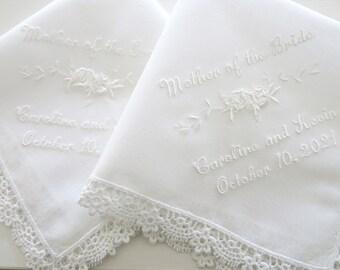 Mother of the Bride/Groom Wedding Handkerchief, Personalized Wedding Hankerchief Mom, handkerchief mom, handkerchiefs, handkerchief