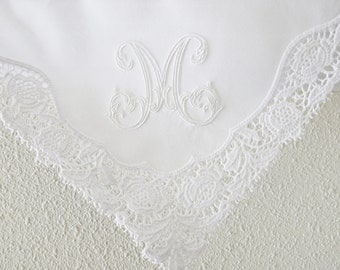 Wedding handkerchief for the bride, Mother of the Bride Handkerchief, monogrammed hankerchief, Wedding handkerchiefs for Moms, handkerchief