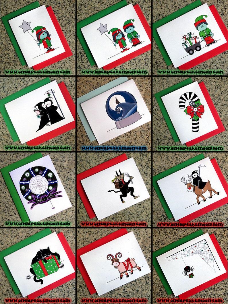 SINGLE CARD alternative goth holiday pagan christmas cards image 0
