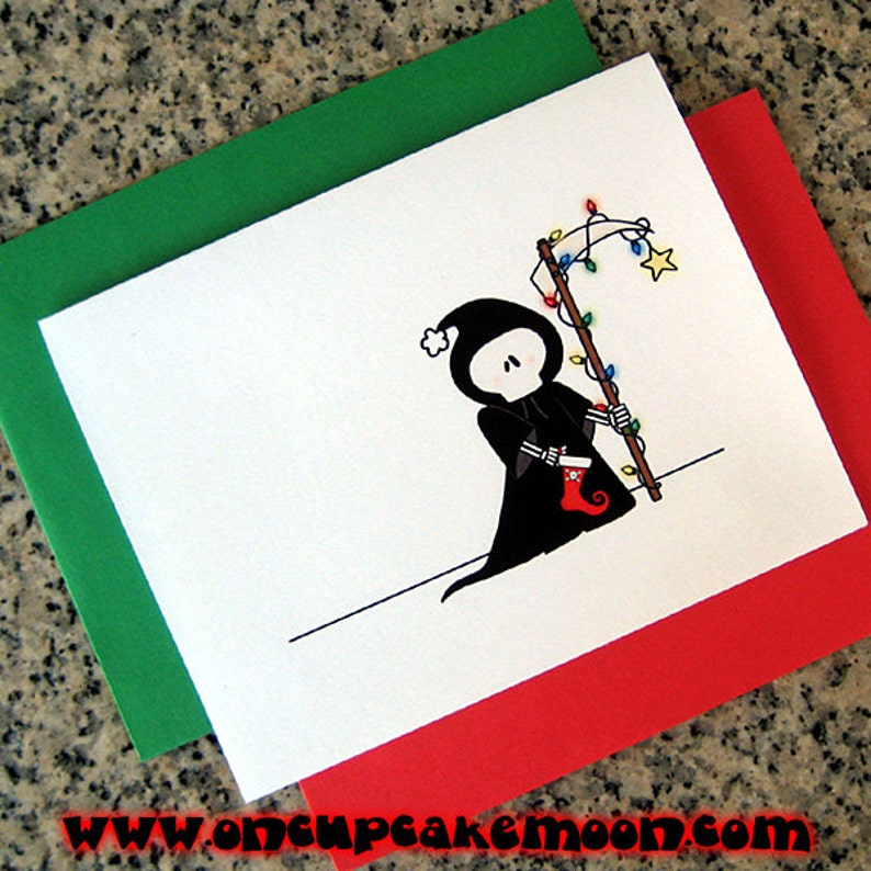 holiday grim reaper christmas cards / notecards / thank you image 0