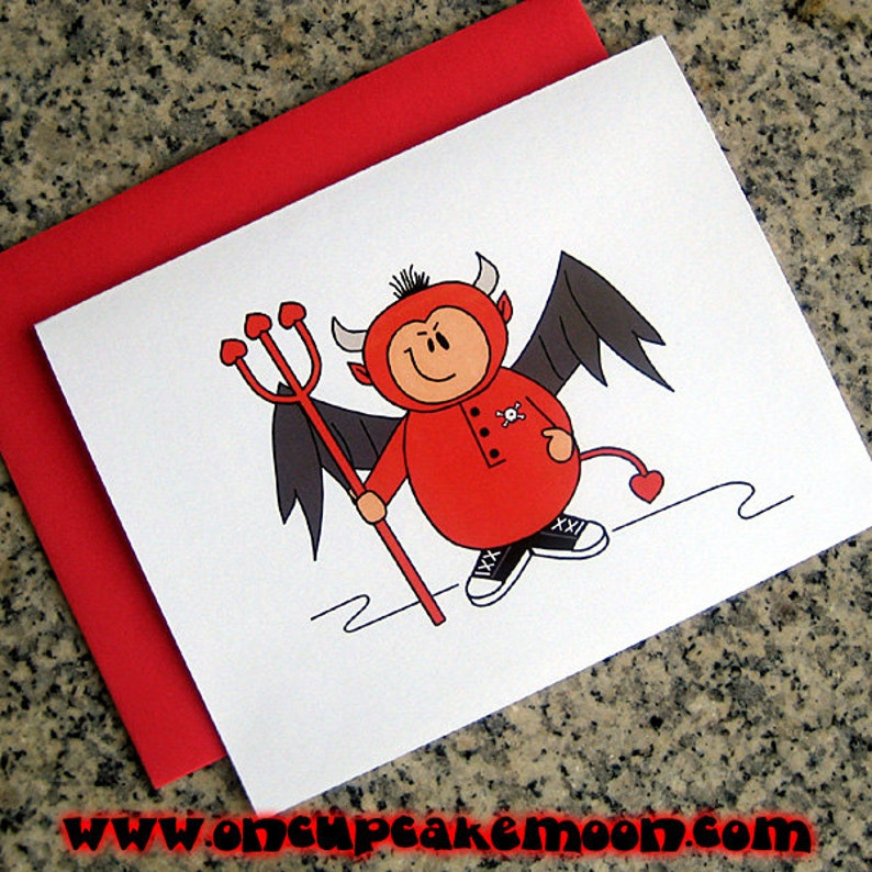 little devil feeling naughty notecards / thank you notes / image 0