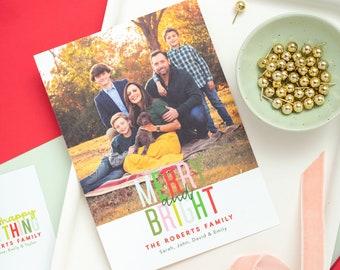 Merry & Bright Photo Card