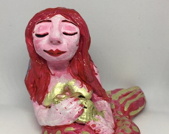 Pink and gold mermaid