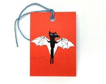Bat Gift Tags - set of 4