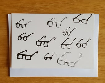 Spectacles greetings card