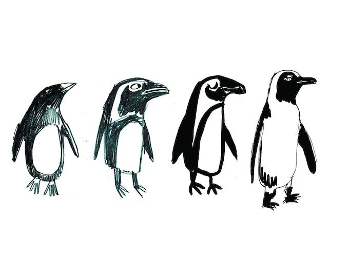 Penguins Christmas card