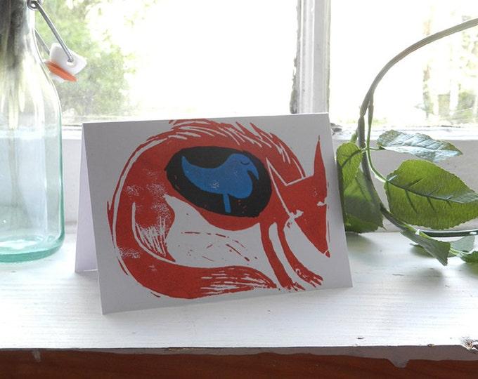 Fox and Bird card
