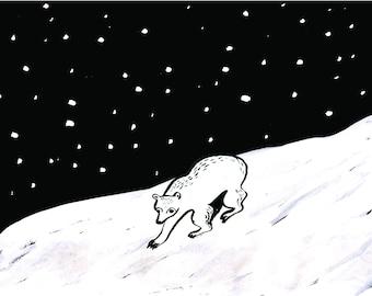 Bear in the Snow Christmas card