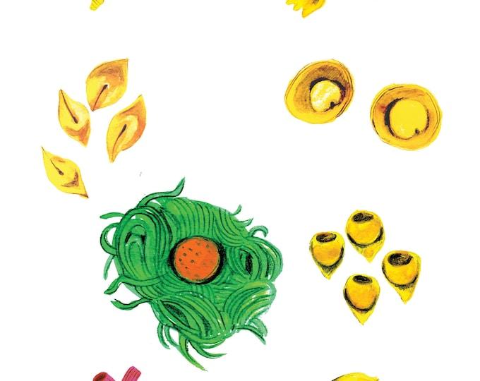Pasta A4 print