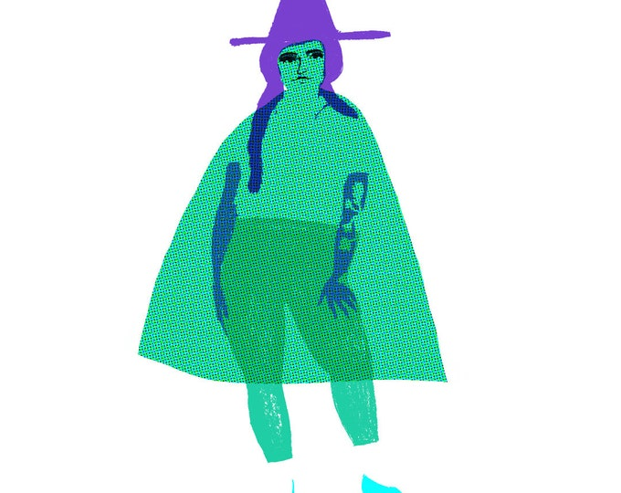 Cheeky Little Witches A6 print set