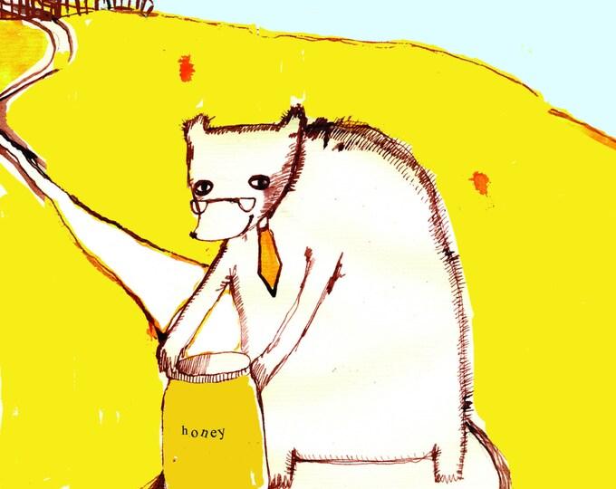 Honey Bear Greetings Card