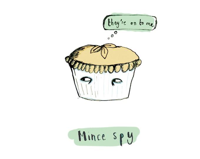 Mince Spy Christmas Card