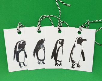 Penguin Gift Tags - set of 4