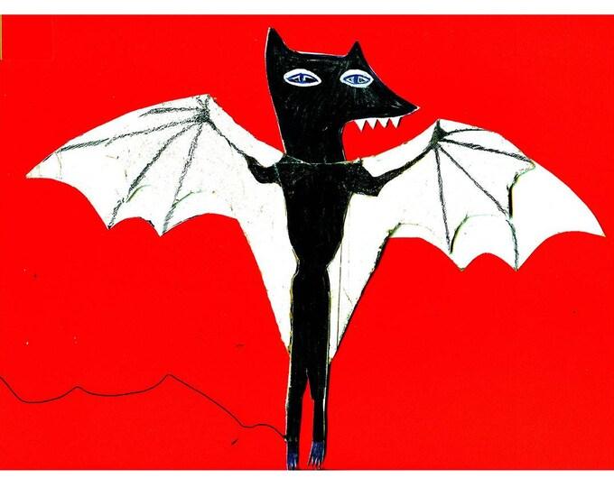 Bat A4 print
