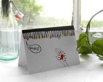 Centipede Thank You card